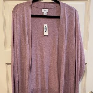 Old Navy Open Cardigan 2X Lightweight Lavender